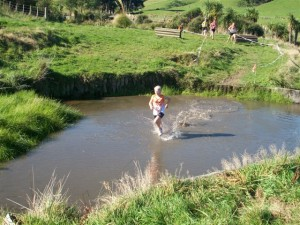 The water jump at Shaw Baton