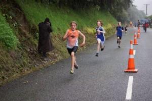 Jessica sprint finish